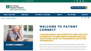Boca Regional Hospital Patient Portal