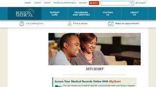 Boston Medical Center Patient Portal