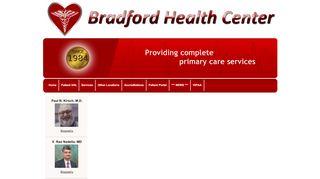 Bradford Health Center Patient Portal