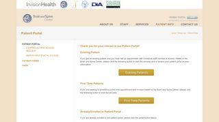 Brain And Spine Center Patient Portal