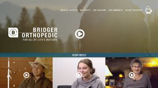 Bridger Orthopedic Patient Portal