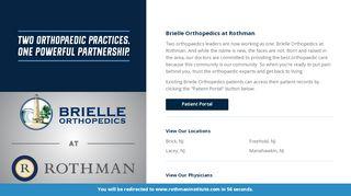 Brielle Orthopedics Patient Portal
