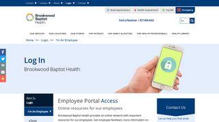 Brookwood Baptist Employee Portal