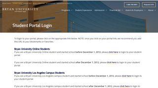 Bryan University Student Portal
