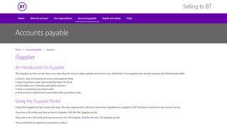 Bt Supplier Portal