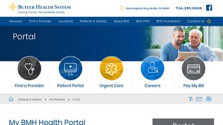 Butler Health System Patient Portal