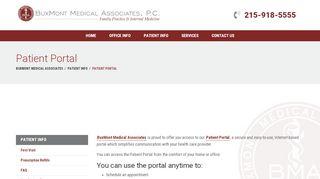 Buxmont Medical Patient Portal
