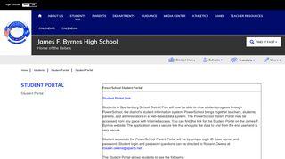Byrnes Freshman Academy Student Portal