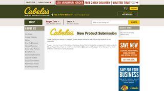 Cabela's Vendor Portal