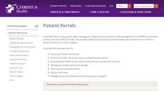 Cabrini Patient Portal