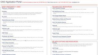 Caci Application Portal