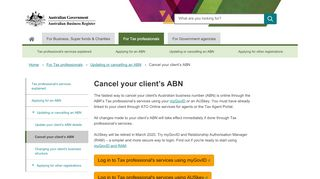 Cancel Abn Tax Agent Portal