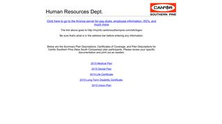 Canfor Employee Portal