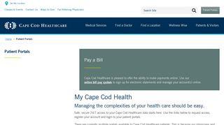 Cape Cod Healthcare Patient Portal