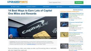 Capital One Venture Shopping Portal