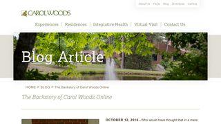 Carol Woods Resident Portal
