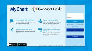 Caromont Health Patient Portal