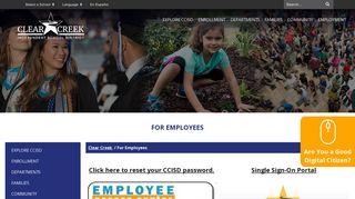 Ccisd4me Employee Portal