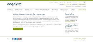 Cenovus External Learning Portal