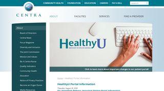 Centra Health Patient Portal