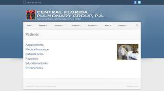 Central Florida Pulmonary Group Patient Portal