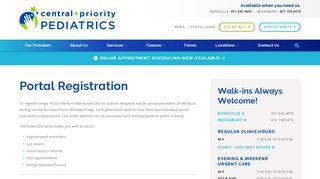 Central Pediatrics Patient Portal