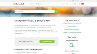 Centurylink Admin Portal