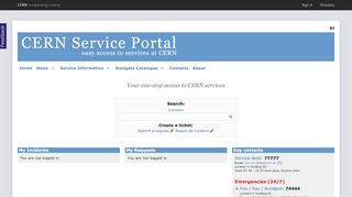 Cern Service Portal
