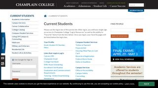 Champlain College Student Portal