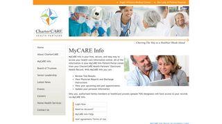 Charter Care Patient Portal