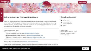 Cherry Creek Apartments Resident Portal