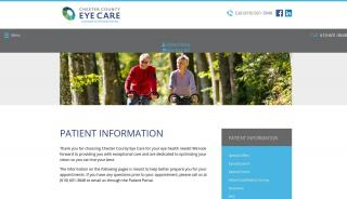 Chester County Eye Care Patient Portal