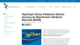 Children's Hospital Colorado Patient Portal