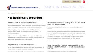 Christian Healthcare Ministries Provider Portal