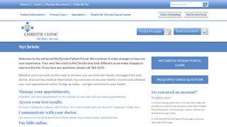 Christie Clinic Portal
