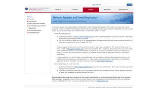 Clinical Pathology Labs Patient Portal