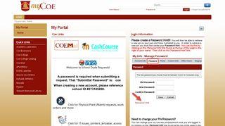 Coe Student Portal