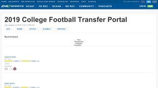 College Football Transfer Portal
