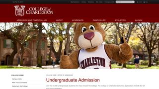 College Of Charleston Admissions Portal
