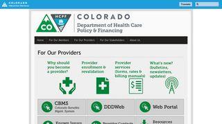 Colorado Medicaid Provider Portal