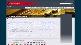 Common Criteria Portal Org