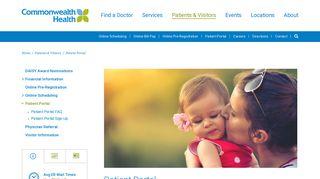 Commonwealth Health Patient Portal