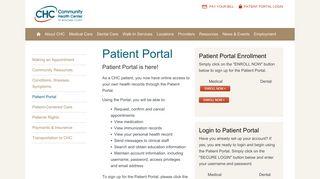 Community Health Center Patient Portal