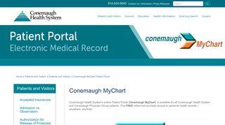 Conemaugh Patient Portal