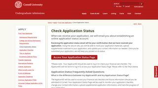 Cornell Applicant Portal