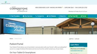Cornerstone Patient Portal Yakima