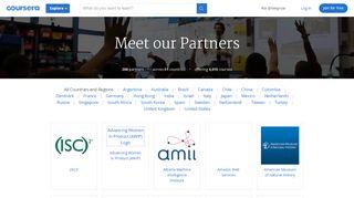 Coursera Partners Portal