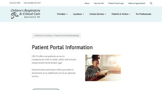 Crccs Patient Portal