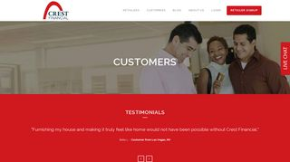 Crest Financial Customer Portal