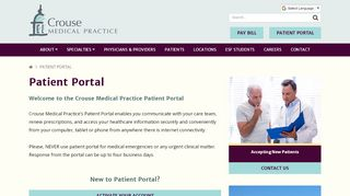 Crouse Patient Portal